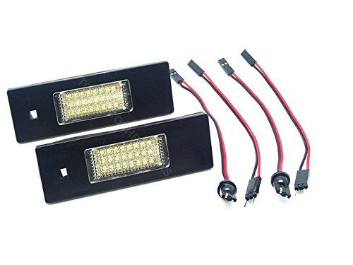 TMT LEDS(TM) Plafonniers LED Plaque d'immatriculation BMW série 1 E81 E86 E87 Série 6 E63 E64 Certifié E4