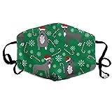 Pitbull Pfefferminzstick, Winter, Zuckerstange, Weihnachtsgrün, Anti-Staub-Maske, Anti-Verschmutzung, waschbar, wiederverwendbare Mundmasken