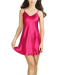 Bel Avril Ropa de Dormir para Mujer, Lencería Satén Camisón Pijama Ropa de Dormir simple Talla de S a XXXL