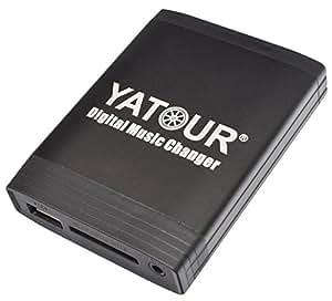 Yatour Adaptateur USB SD AUX MP3 et pour Nissan Almera (Tino) à partir de 1997, Primera à partir de 1997, Micra à partir de 1997, Navara, Note, Qashqai, Tiida, X-Trail