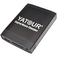 Yatour - Adaptador para coche Volvo con radios HU-401, 403, 405, 415, 555, 601, 603, 605, 611, 613, 615, 650, 801, 803, 850, 1205, CR-504 (USB, SD, AUX)