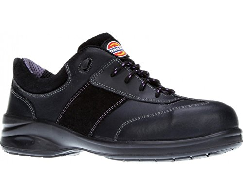 04627c13 Dickies Ladies Safety Shoe Trainers Work Safety Steel Toe Cap Womens Shoes  Lightweight Leather Velma Size FD9212 UK 3-8