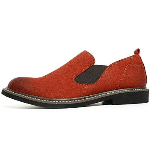 Hommes Chaussures en cuir Rétro Respirant Accueil Confortable Chaussures décontractées Chaussures plates Chaussures de loisirs Brown