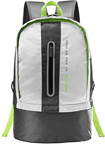 Besporter Sporttasche Rucksack mit Schuhfach Schultertasche Wasserdichte Rucksack Große Kapazität passt 15