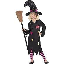 Smiffys, Kinder Mädchen Aschenhexe Kostüm, Kleid, Hut und Strumpfhose, Größe: M, 35655