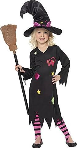 Smiffy's 35655S Zunderhexen-Kostüm für Kinder, S, schwarz (Mädchen-kostüm Für Kinder)