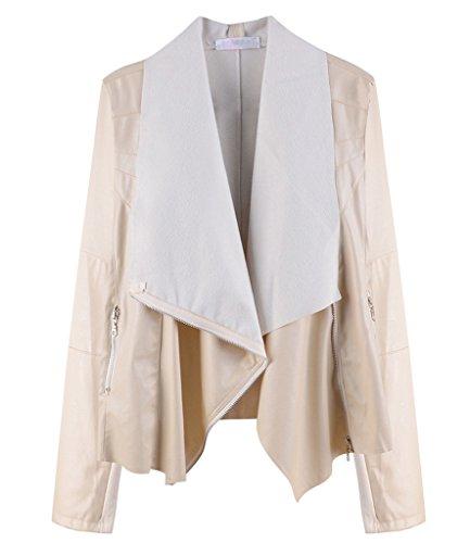 Damen Langarm Mantel Irregulär Revers Wrap Bund Windbreaker Long Outwear Jacke