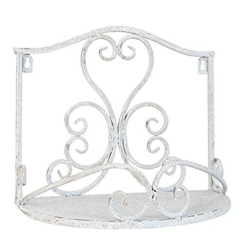Mensola in ferro battuto bianco