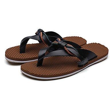 Slippers & amp da uomo;Estate Suole PU chiaro Casual sandali marrone nero bianco sandali US9.5 / EU42 / UK8.5 / CN43