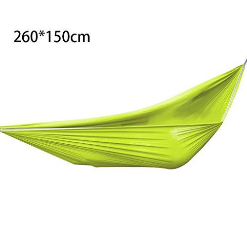Hängematten Wddwarmhome Doppel Outdoor Camping Dorm Zimmer Schlafzimmer Schaukel Haushalt Casual Hängesessel (260 * 150 cm) (Farbe : Grün)