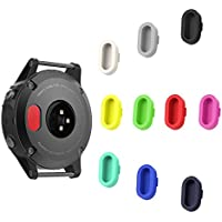 SUPORE Garmin Fenix 5/5S/5 x Prise de la Poussière, Port de Charge de Protection Anti Poussière Silicone Plugs Caps Garmin Fenix 5/5S/5 x/Forerunner 935 Smart Watch (10)