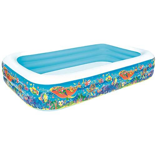 GCGC Aufblasbarer Pool für große Familien, aufblasbarer rechteckiger Klapppool, Kinderbecken im Freien. (2 pro Fall)