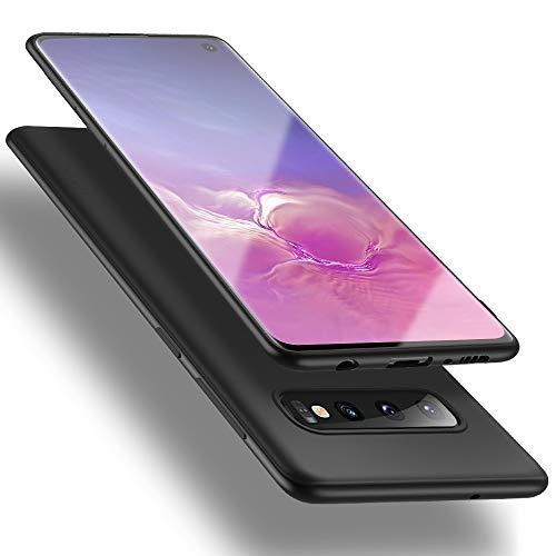 X-level für Samsung Galaxy S10 Hülle, [Guardian Serie] Soft Flex Silikon Premium TPU Echtes Telefongefühl Handyhülle Schutzhülle Kompatibel mit Galaxy S10 6,1 Zoll Case Cover - Schwarz