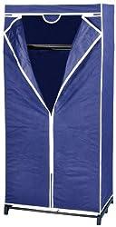 WENKO 4381640100 Kleiderschrank Air mit Ablage, 100 % Polypropylen, 75 x 160 x 50 cm, Blau