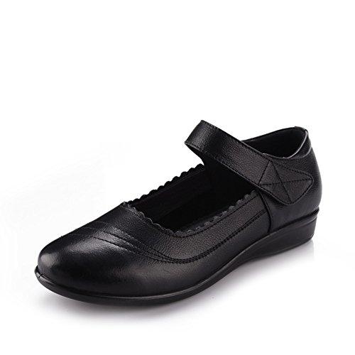 Taille chaussures plates avec sa mère/Chaussures plates âgées/Fond mou pour hommes/Les femmes âgées dans le confort de C