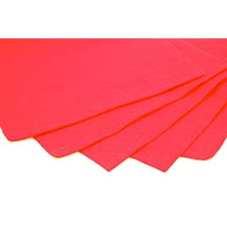 Red Felt Sheets, A4 size, 5 per pack