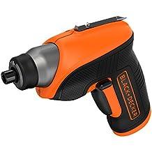 Black+Decker CS3652LC - Atornillador a batería, 3.6 V, color negro y naranja