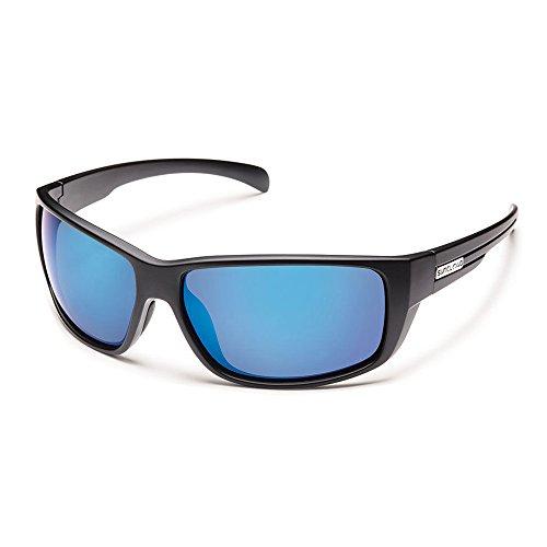 Suncloud Optics Women's Milestone Sunglasses (Matte Black,Blue Mirror Polarized Polycarbonate)