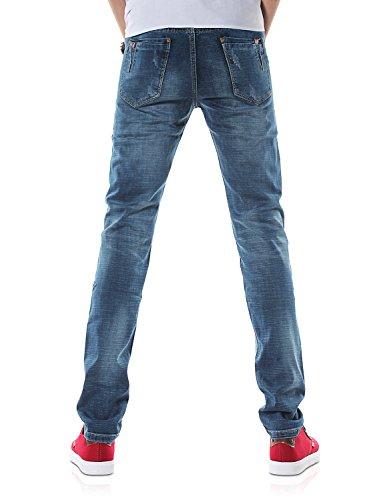 Demon&Hunter 817 Serie Schlank Herren Elastizität Jeanshosen DH8309 x Blau
