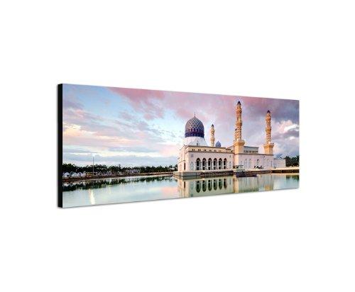 Moschee Islam Moslem Glaube Religion 150x50cm Panorama Wandbild auf Leinwand und Keilrahmen fertig zum aufhängen - Unsere Bilder auf Leinwand bestechen durch ihre ungewöhnlichen Formate und den extrem detaillierten Druck aus bis zu 100 Megapixel hoch aufgelösten Fotos.