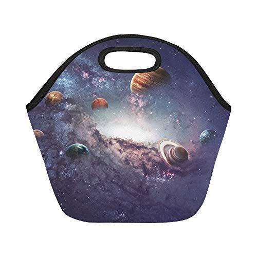 Insulated Neoprene Lunch Bag Hochauflösende Bilder Präsentiert Erstellen von Planeten Große wiederverwendbare thermische Dickes Mittagessen Tragetaschen Für Brotdosen Für draußen, Arbeit, Büro, Schule