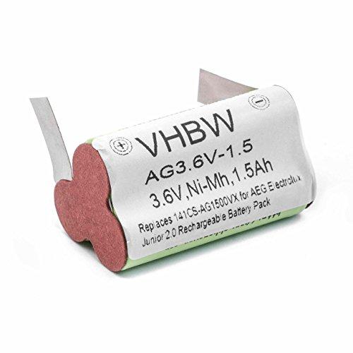 vhbw NiMH Akku 1500mAh (3.6V) für Staubsauger Home Cleaner Heimroboter AEG/Elektrolux Junior 2.0