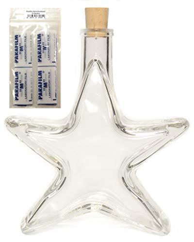 10 x Stern Likör Weihnachts Flasche leer 0,2 L inkl. Parafilm & Korken VERSAND INNERHALB 24 STD!