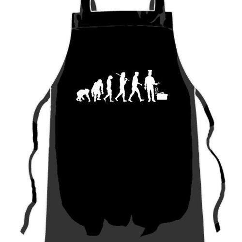 Standard Edition v2 Koch II Küche Kochen Evolution Grillschürze Küchenschürze Gastroschürze Schwarz