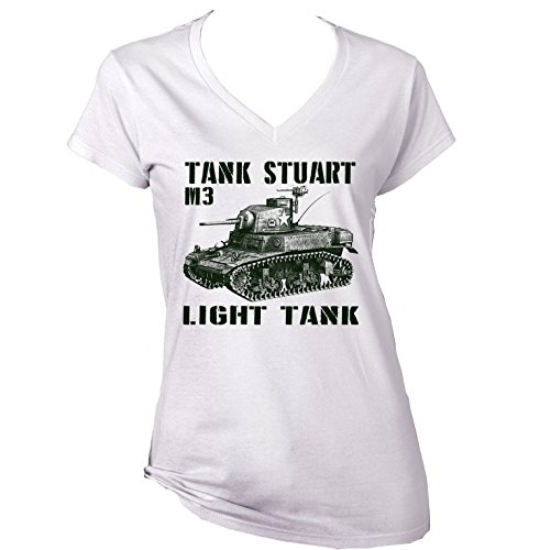 teesquare1st Women's Tank Stuart M3 White T-Shirt Size Small