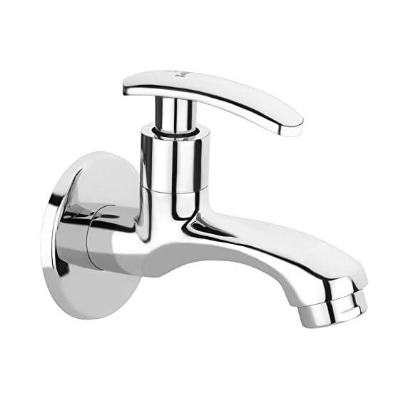 TNL Half Moon Long Body tap Bath Long Nose tap Quarter Turn Brass Bib Cock C.P Fittings Bib Tap Bathroom Tap Washing Tap Kitchen Tap (Chrome Finish)