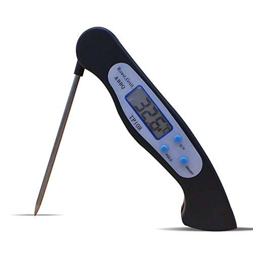 Instant Lesen Digitales Kochen Thermometer LCD Display Lebensmittel Fleisch Thermometer mit Anti Korrosion Faltbare Sonde für Küche Outdoor BBQ Grill Milch und Bad Wasser Zucker