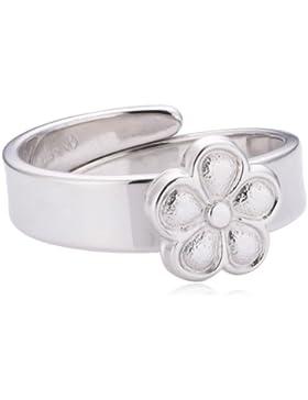 Xaana Kinder und Jugendliche-Ring 925 Sterling Silber größenverstellbar Blume rhodiniert Gr. 44 (14.0) AMZ0157