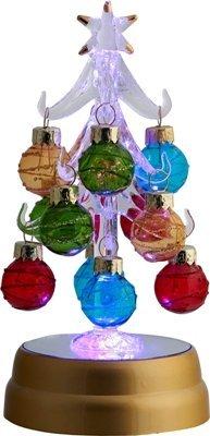 Glasornament, leuchtend, mehrfarbig, Weihnachtsbaum, 16,5 cm h -