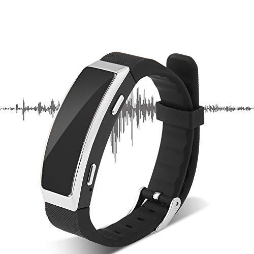 Tangxi Armband Digitale Diktiergeräte, 20-Stunden-Armband MP3 Smart Armband, 8 GB Speicher 192 Kbit/s Zeitstempel-Diktiergerät für Besprechungsgespräche