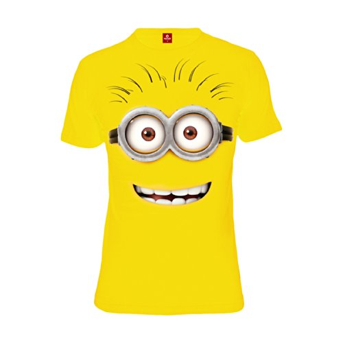 Cattivissimo Me - T-shirt con motivo faccia minion - Girocollo - Cotone - Giallo - M