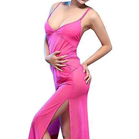 Vovotrade®Frauen Charming Transparente Unterwäsche Neue Kleider Cheongsam Kleider Big Rock (Rosa)