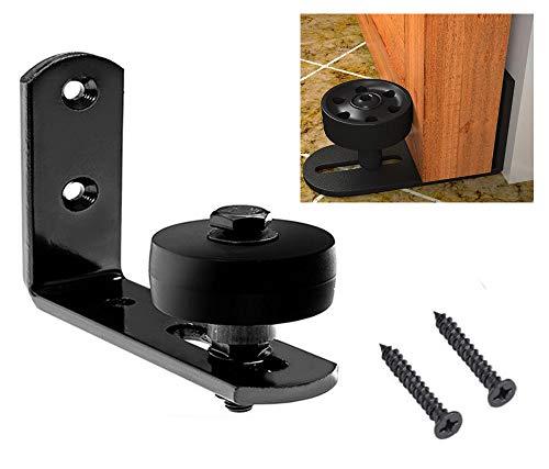 Schwarz Scheunentor Boden Rolltor Schiene verstellbare Rollenbeschläge - Flush Floor - Garage Floor Kit