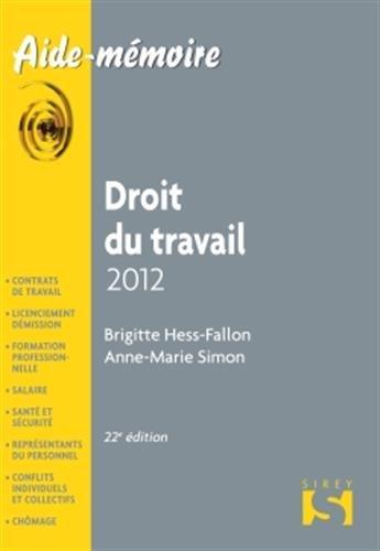 droit-du-travail-2012-22e-d-aide-mmoire-sirey