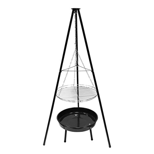 Garden Kraft 19610 50,8 cm trépied Grille pour Barbecue et Foyer – Noir