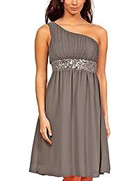 My Evening Dress- Robe de Cocktail et de Soirée à Une Epaule Pailletée
