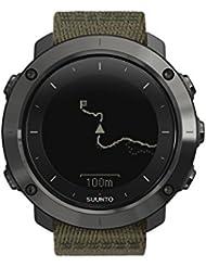 Suunto, Montre GPS Extérieure pour la Marche et la Randonnée, Jusqu'à 100h d'Autonomie, Imperméable, Traverse Slate, Noir/Kaki, SS022293000
