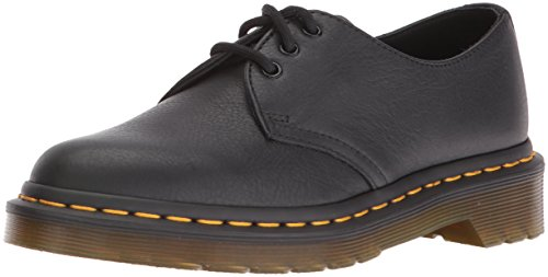 Dr. Martens 1461 Virginia Black, Damen Derby Schnürhalbschuhe, Schwarz (Black), 39 EU (6 Damen UK) (Damen-doc Martens Oxford)
