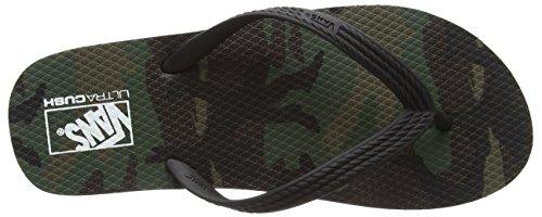 Vans Hanelei, Baskets Basses homme Noir (camo/green)
