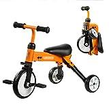 Dreirad Faltbare Kinder Baby Vorschule Pedal Roller Spielzeug Fahrrad 3 Räder Kinder (Farbe : Orange)