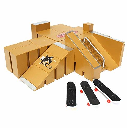 Strollway Praktisch und praktisch Skate Park für Tech Deck, Skate Park Rampe Teile für Tech Deck Finger Board Finger Board Ultimate Parks 92A