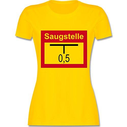 Feuerwehr - Saugstelle - tailliertes Premium T-Shirt mit Rundhalsausschnitt für Damen Gelb