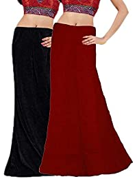 RAMAYA Women's Cotton Petticoat (PTC01, Multicolour, Free Size)