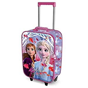 Karactermania Frozen Believe – Maleta Trolley Soft 3D, Multicolor