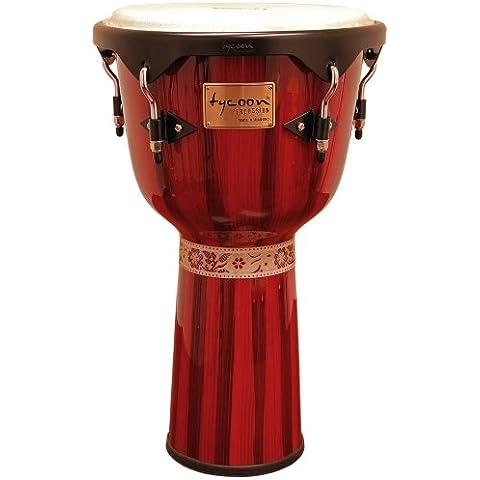 Tycoon Percussion Serie Artist - Djembe pitturato a mano, colore rosso - Tj Percussion
