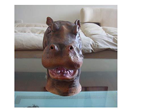 Hippo Maske - Halloween Horror Kopfbedeckung - Latex COS Wilder Tier - Makeup Show Spoof Movie Show ()